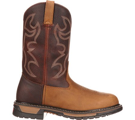 Toe Brown Leather Boot Ride Crazy Work Men's Aztec Bridal Original Horse Steel Bridle Rocky aFq4nx