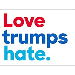 Love trumps hate. Bumper Sticker (anti trump peace democrat)