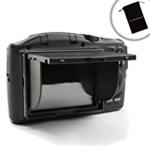 """ENHANCE Universal 3"""" LCD Hood w/ Sun Shade Screen Protector – Works with Nikon D3300 D3400 D7100 D5500 D5300 Canon Rebel T5i T5 T6 Neewer BG-E8 Canon EOS 1300D Pentax K-50 etc *includes accessory bag*"""