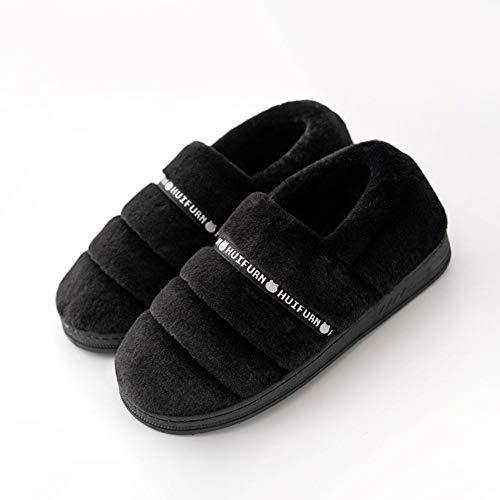 Hiver La À Maison Pantoufles Grande Automne Zlulu Coton Intérieure Fond Et Chaud Épaissie Femmes Chaussons Chaussures Taille Hommes De TaUq7HxUw