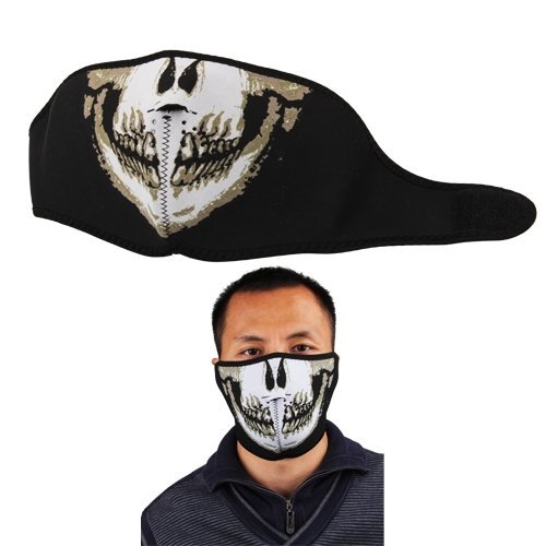 Biker Motorcycle Snowboard Skull Goth Half Face Mask Facemask - - Amazon.com