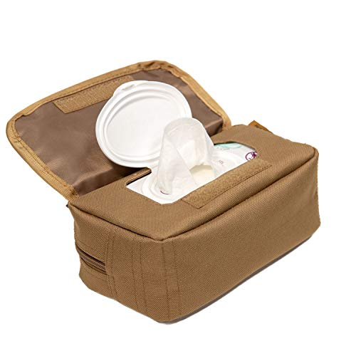 Tactical Baby Gear MOLLE Baby Wipe Pouch 2.0 (Coyote Brown) from Tactical Baby Gear