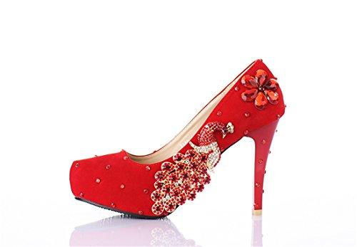 12cm Plataforma Heel Miyoopark Red Mujer qAwtfWnpg
