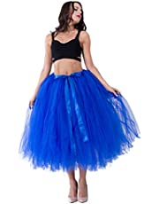 kephy Handmade Adult Tutu Tulle Skirt for Women 31.5 Inch Long Photography Wedding Party Skirts