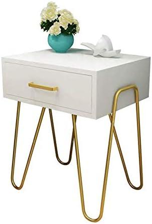 安定した ストレージベッドサイドテーブルシンプルゴールデン現代ベッドサイドキャビネットクリエイティブ内閣アイアンベッドルームのファッションシンプルな北欧 ファッション