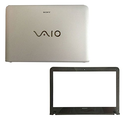 New Laptop Replacement Parts for Sony Vaio SVE141D11L SVE141J11W SVE141R11L SVE1411JFXP EAHK6003020 Top Cover Case and LCD Front Bezel Cover