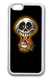 D Skull Slim Soft Cover for iPhone 6 Case (4.7 inch) TPU Black Cases