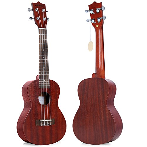 "ADM 23"" Deluxe Mahogany Concert Ukulele Kit with Bag, Strap, Tuner and Picks - Image 1"