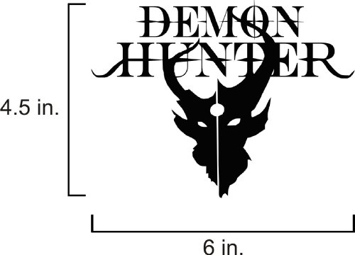 PANDA HOUSE Demon Hunter Band Logo Vinyl Bumpersticker (6x4.5)
