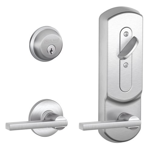 Schlage RS210F LAT 626 PLY Plymouth by Latitude Mechanical Interconnected Lock, Satin Chrome by Schlage Lock Company
