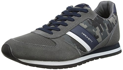 Hackett London Sutton Street Sneaker, Zapatillas para Hombre 9BFGREY/NAVY