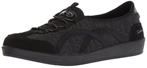 (Skechers Women's Madison AVE-Urban Glitz Sneaker, BKSL, 10 M US)
