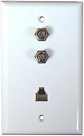 Dual 3.0GHz F-81 One Phone Connectors Wall Plate