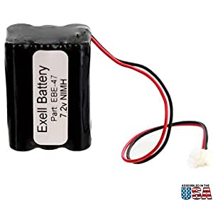 Amazon.com: Exell Battery Emergency Lighting Battery Fits