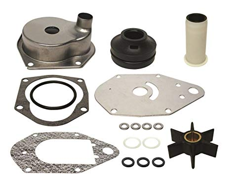 GLM Water Pump Impeller Kit for Mercury 4 Stroke EFI 40, 50, 60 Hp 1995 & Later Replaces 46-812966A12