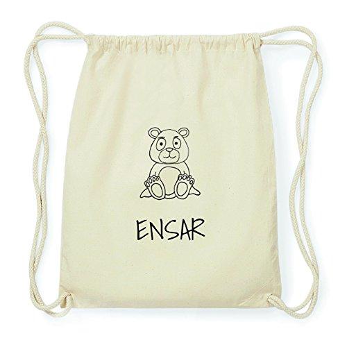 JOllipets ENSAR Hipster Turnbeutel Tasche Rucksack aus Baumwolle Design: Bär