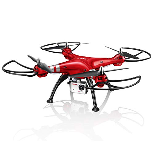 Syma RC Drone with 1080P HD Camera X8HG 2.4GHz 6-Axis Gyro Remote Control Quadcopter Headless Mode Altitude Hold LED…