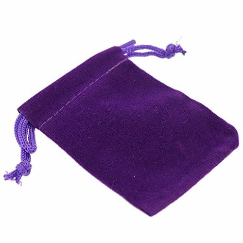 (10 Pcs Storage Bags Wedding Jewellery Favour Pouch 7x9cm Muranba (Purple))