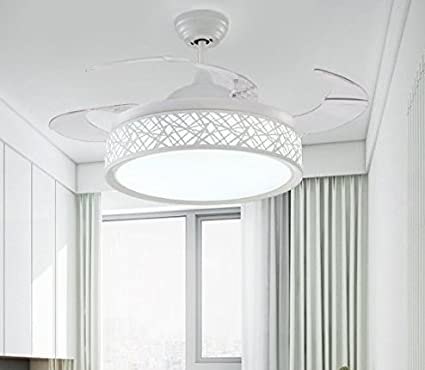 Hidden ceiling fan light fashion simple dining room chandelier ...