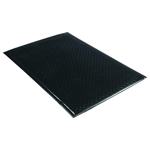 Guardian Soft Step Supreme Anti-Fatigue Floor Mat, Diamond Textured, Vinyl, 2'x3', Black by Guardian