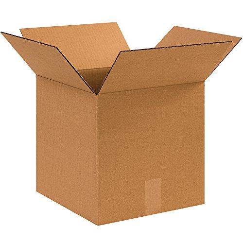 BOX USA BHD1212MS Small Moving Boxes, Heavy-Duty Single Wall, 12