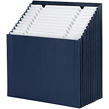 Smead Stadium File, Alphabetic/ Monthly/ Daily, Household/ Blank Labels, 12 Pockets, Letter Size, Navy (70211)