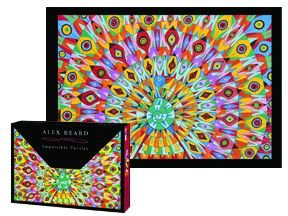 Alex Beard Impossible Jigsaw Puzzle ~ Peacock