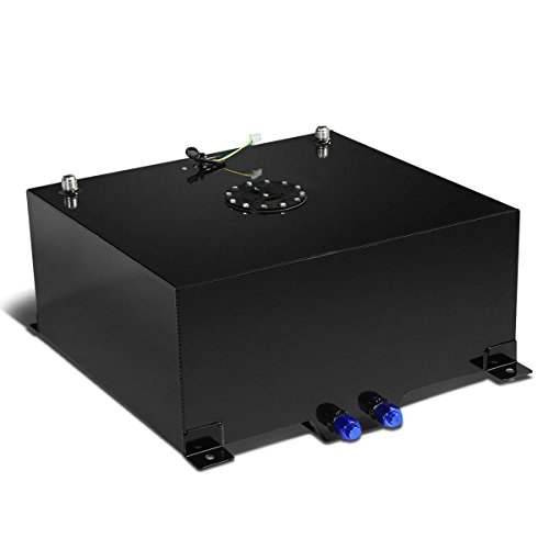 20-Gallon Aluminum Street/Drift/Strip/Racing Fuel Cell Black Gas Tank with Level Sender and Cap (20 Gallon Fuel Tank)