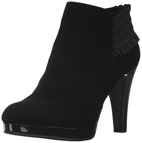 (Unlisted by Kenneth Cole Women's Part Film Platform Heeled Bootie Fashion Boot, Black, 6 Medium US)
