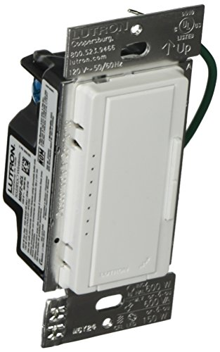Location 1000 Watt Dimmer (Lutron MRF2-10D-120-WH Maestro Wireless 1000 Watt Multi-Location Dimmer, White)