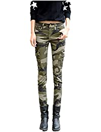 Women's Camo Army Slim Stretch Jeans Tight Pants Leggings Cargo Pencil Pants