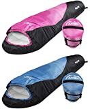 Andes Pichu 300 2-3 Season Childrens/Kids Camping Sleeping Bag Pink/Black