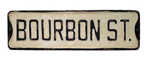 Metal Street Bar Sign (Vintage Decor Reproduction New Orleans Bourbon Street Metal Street Sign (Bourbon St))
