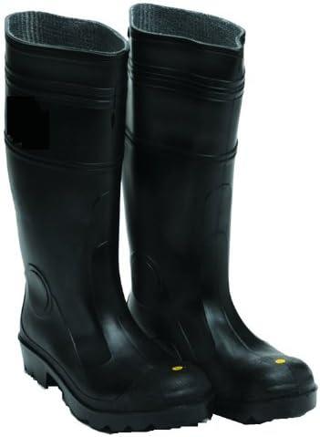 BPT10 Black Plain Toe Boots (Size