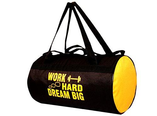 Avigo 20 Liters Black Yellow Sports Duffel Gym Bag