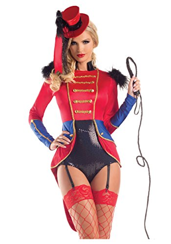 Party King Women's Sexy Lion Tamer Costume, Red, Small