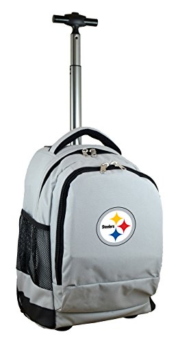 - Denco NFL Pittsburgh Steelers Expedition Wheeled Backpack, 19-inches, Grey