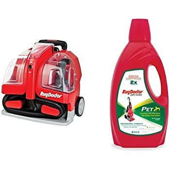 Rug Doctor Portable Spot Cleaner Machine, Red - Corded and Rug Doctor Pet Pro Carpet