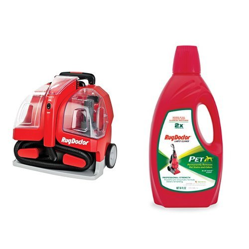 Rug Doctor Portable Spot Cleaner Machine, Red - Corded and R