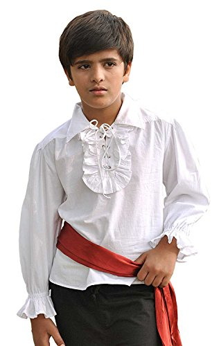 Kids Pirate Medieval Renaissance Medieval Cosplay Costume 100% Cotton Captain Kennit Shirt C1255