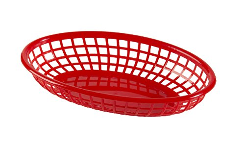 (Update International (BB96R) Oval Fast Food Baskets [Set of 12])