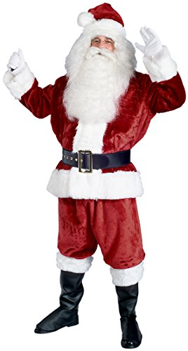 Rubie's Deluxe Crimson Imperial Plush Santa Suit, Red/White, Standard by Rubie's