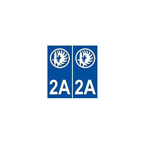 Autocollant Légion étrangère calvi numéro département au choix plaque immatriculation stickers - droits