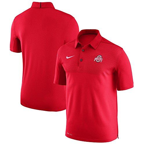Nike Men's Ohio State Buckeyes Scarlet Elite Football Sideline Polo (Ohio State Buckeyes Sideline Jersey)
