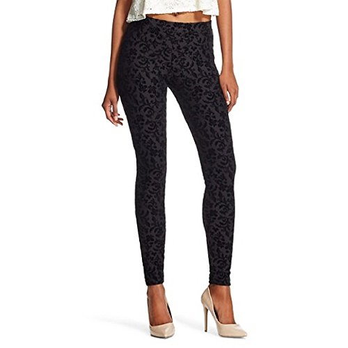 hilaration-jeggings-size-small-black-floral-print