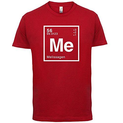 Melissa Periodensystem - Herren T-Shirt - Rot - M