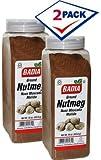 Badia Ground Nutmeg. 16 oz dispenser jar. Pack of 2