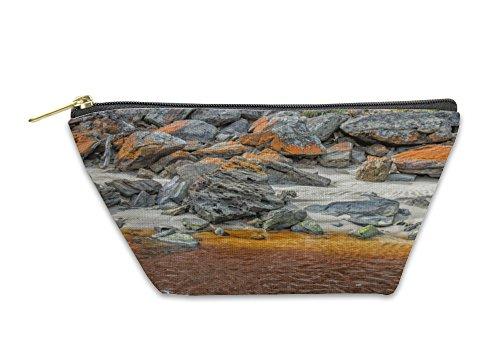 Gear New Accessory Zipper Pouch, Kangaroo Island White Sand Iron Yellow River In Australia, Small, (Kangaroo White Handbag)