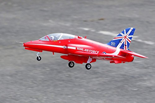 (FMS Bae Hawk Red Arrow 80mm Ducted Fan EDF Red Racing High Speed RC Airplane Jet 6S PNP (No Radio, Battery, Charger))