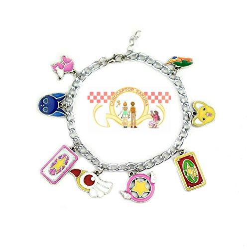 Cardcaptor Sakura Charms Lobster Clasp Bracelet in Gift Box by Superheroes